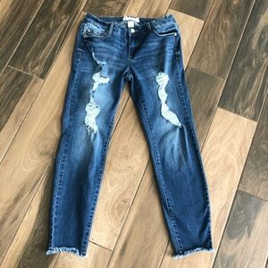 Altar'd State distressed skinny ankle jeans